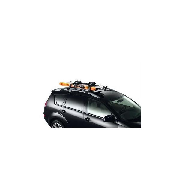 porte skis sur barres de toit 4 paires de skis citroen accessoires citro n. Black Bedroom Furniture Sets. Home Design Ideas