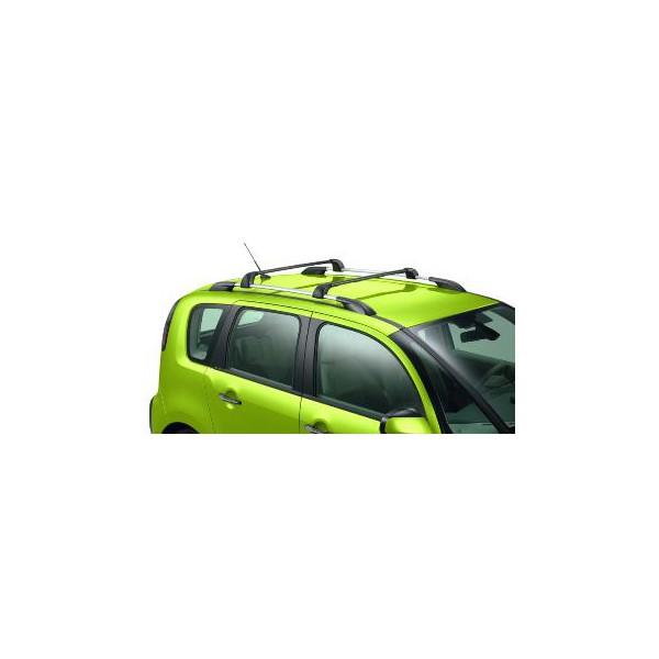 jeu de 2 barres de toit transversales acier pour vehicule avec barres longitudinales citroen. Black Bedroom Furniture Sets. Home Design Ideas